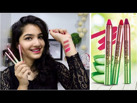 *NEW* Lakme 9 to 5 Naturale Matte sticks Lipstick - Review and Swatches