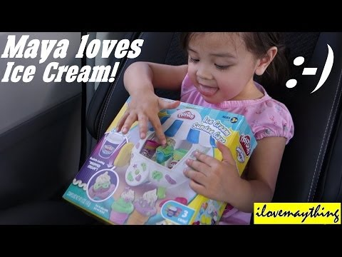 Unboxing Play-Doh Sundae Ice Cream Cart - Playtime with Maya