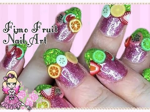 Fun Summer Fimo Fruit Nail Art Tutorial - Violet LeBeaux