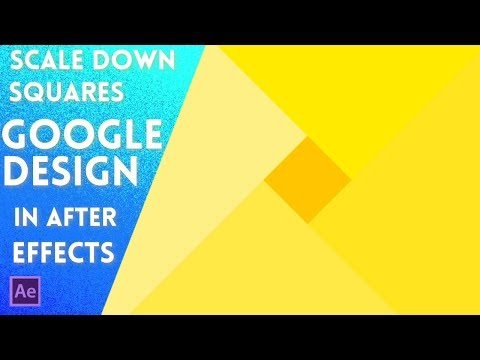 Scale Down Squares - Google Material Design Inspired | After Effects Tutorial 2017