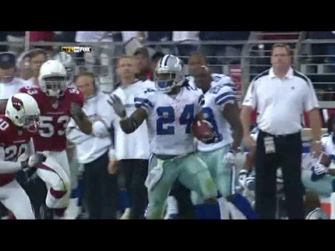 MARION BARBER 70 YARD TD CATCH AGAINST THE CARDINALS Video