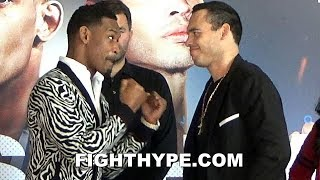 DANIEL JACOBS & JULIO CESAR CHAVEZ JR. COME FACE TO FACE FOR FIRST OFFICIAL STAREDOWN