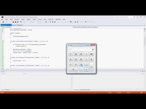 Visual Studio WinForm Windows Calculator Tutorial Example (C#)