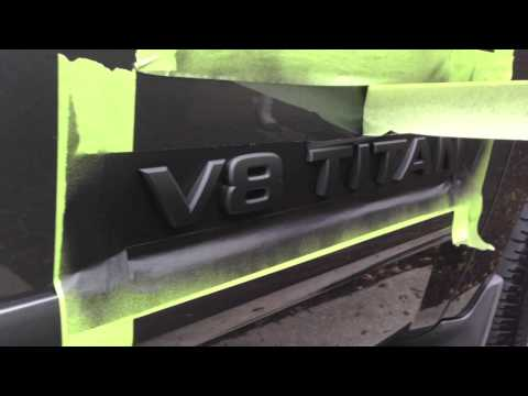 HOW TO Plasti Dip Emblems (Nissan Titan)