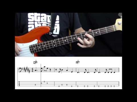 Stevie Wonder - You Are The Sunshine Of My Life (Bass cover with tabs in video)