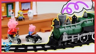 Trains for Children - Train Set Toys Review - Video for Kids in Stop Motion #trainsforkids