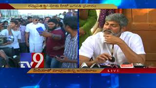 Jagapathi Babu walks for 'Rachayitha' movie promotion