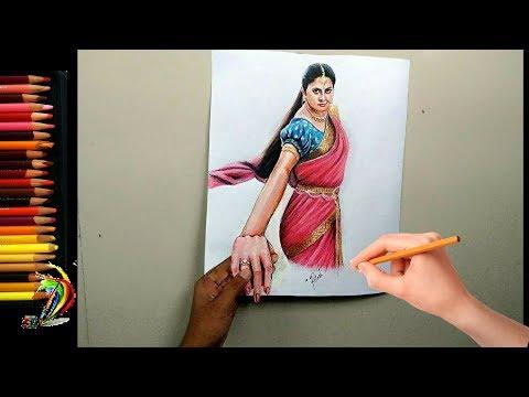 Bahubali 2 | 3d Drawing of Anushka Shetty - Devasena That will blow your mind | Bahubali 2 movie