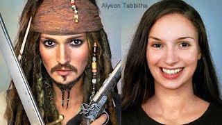 Jack Sparrow Makeup Transformation - Cosplay Tutorial