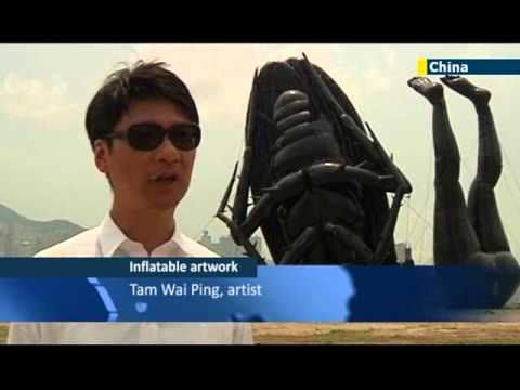 Hong Kong hosts giant inflatable art