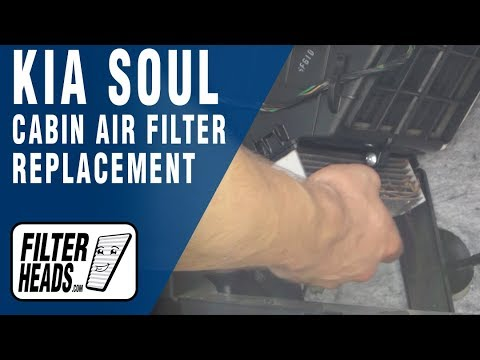 Cabin air filter replacement- Kia Soul