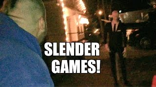 SLENDER MAN CLOTHESLINED TO HELL BY FAT MAN!!