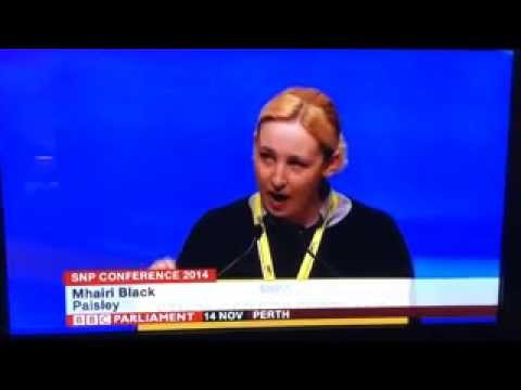 MHAIRI BLACK at SNP Conference 2014 - YouTube