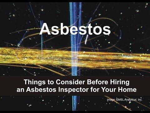 Asbestos - Things to Consider Before Hiring an Asbestos Inspector for Your Home