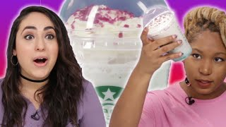 People Try The New Starbucks Crystal Ball Frappuccino