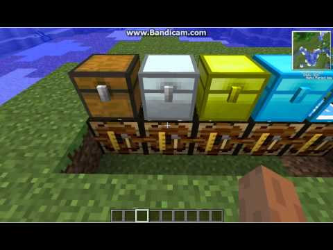 Minecraft Tekkit-How To Make Iron, Gold, Diamond, And Cristal Chests