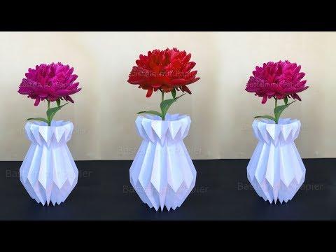 Vase basteln mit Papier - Deko selber machen - DIY Bastelideen / Geschenke