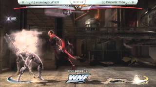 INJUSTICE SLAYER vs Emporer Theo - WNF 2014 Season 1 Grand Finals