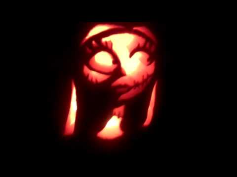 Nightmare Before Christmas Sally Pumpkin Carving Youtube