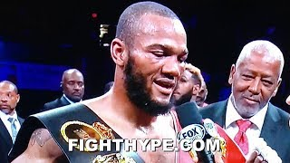 JULIAN WILLIAMS SECONDS AFTER DROPPING, SHOCKING JARRETT HURD; EMOTIONAL AFTER WIN, WHAT'S NEXT?