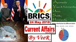 24 May 2018 - PIB, Yojana-Nano Magazine-AYUSH, UJALA, LED, WTO, BRICS,Zojila tunnel -Current Affairs