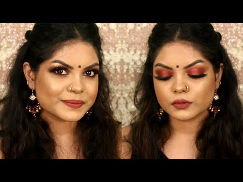 ASTHOMI NIGHT MAKEUP TUTORIAL | DURGA POOJO MAKEUP LOOK 2018 | KOLKATA INDIA