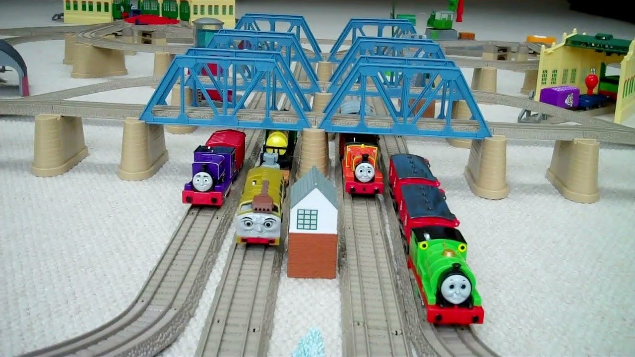 Toy Train Tracks : Trackmaster tracks train set kids thomas the tank engine