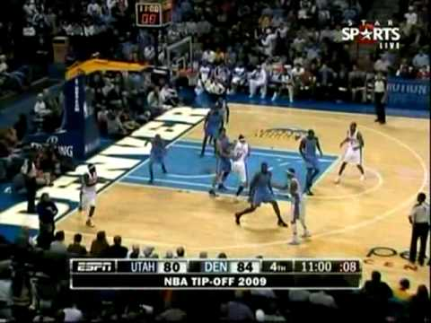 Nuggets Ty Lawson NBA Debut 17 pts 6 ast 4 reb