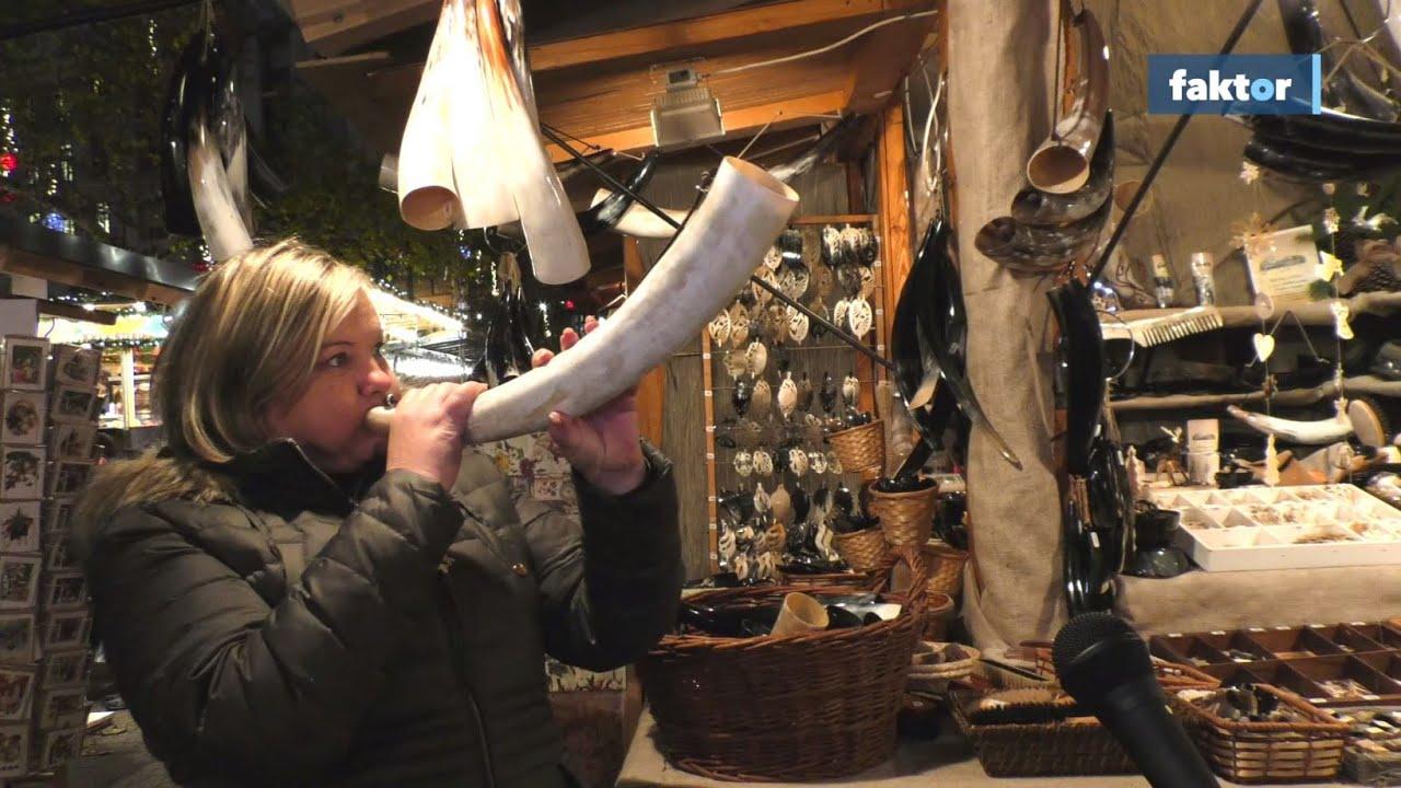 Szürkemarhaszarv-kürt és lepcsánka - furcsaságok a karácsonyi vásárokban - videó