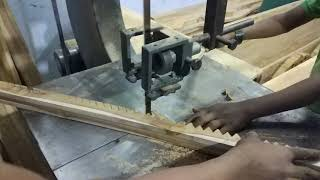 Primitive Technology: Low Quality Woodturning for Bed in Bangladesh    Amazing Wood Cutting