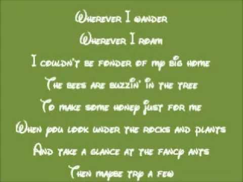 Jungle Book, The Soundtrack - The Bare Necessities Lyrics