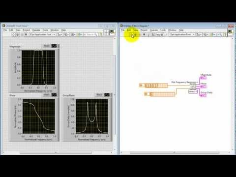 "NI LabVIEW: ""Plot Frequency Response"" subVI"