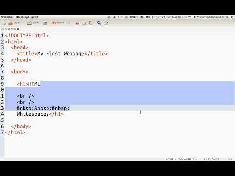 How HTML handles whitespaces