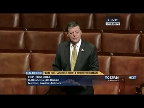 Rep. Cole Supports Farm Bill Conference Report on House Floor