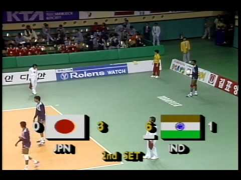 UDAYAKUMAR - KERALA - INDIA - VOLLEYBALL ACTION - SEOUL  ASIAN GAMES -1986