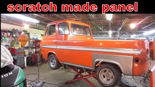RUST REPAIR, Ratty 1965 ford econoline pickup.