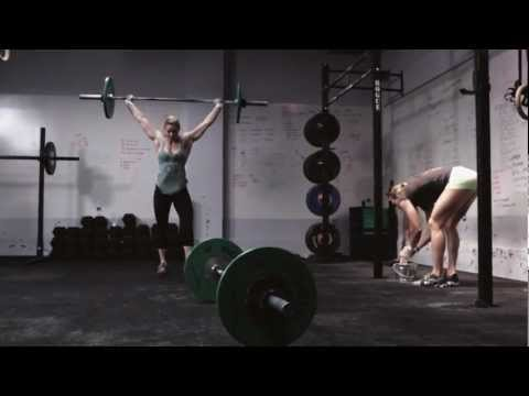 CrossFit - WOD 130130 Demo with Cara Hipskind and Kayla Baumgardner