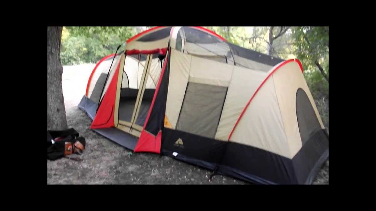 Ozark Trail 3 Room Family Lodge 20 X 11 Youtube