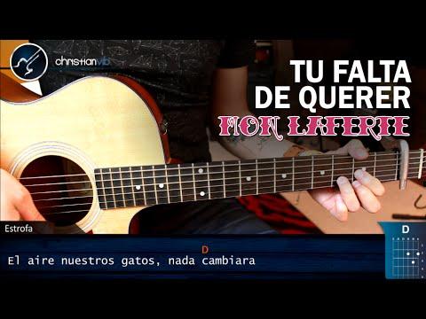 Como Tocar Tu Falta De Querer En Guitarra MON LAFERTE   Tutorial Acordes