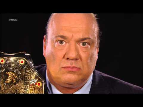 Triple H invites Brock Lesnar and Paul Heyman to meet him next week on Raw: Raw, May 6, 2013