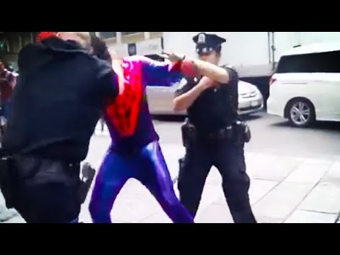 Spider-man Punches Cop In The Face video