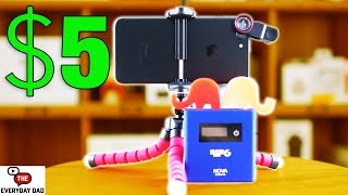 Best Budget Cell Phone Accessories!  Under $5 Amazon challenge!  Reviewing the Cheapest