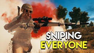 SNIPING EVERYONE - PUBG (PlayerUnknown's Battlegrounds)