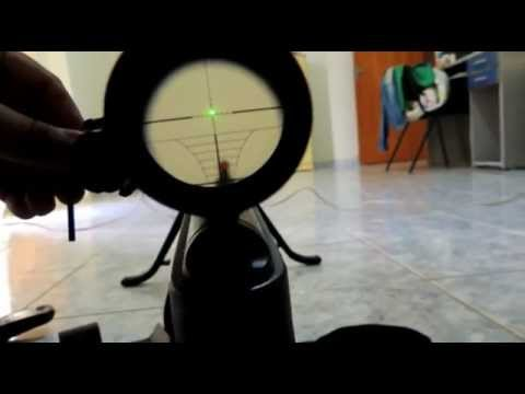 Mira Laser Laser Scope Green Traçante Regulagem Airgun Paintball