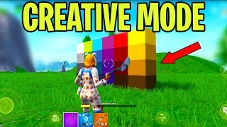 Fortnite Mobile CREATIVE MODE Gameplay (Android & iOS) *NEW*