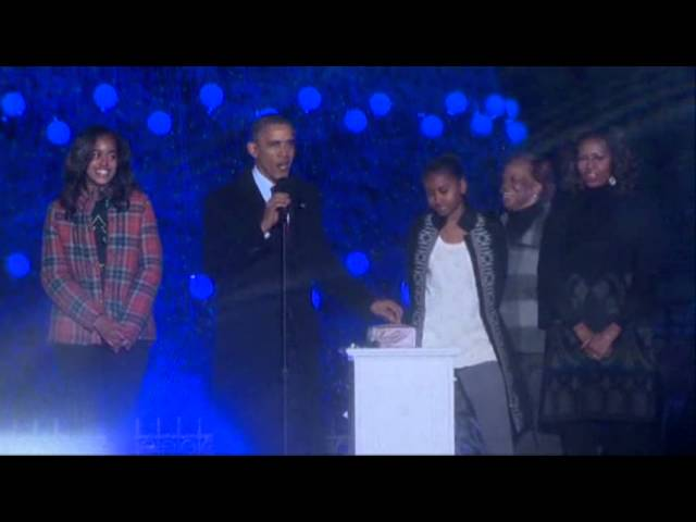 Raw: Obama Lights National Christmas Tree
