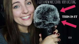 breaking in my new microphone cover (combing, touching, whispering) ASMR