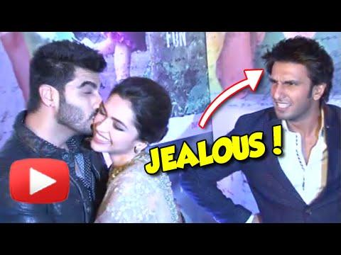 Arjun Kapoor Kisses Deepika Padukone Ranveer Singh Jealous
