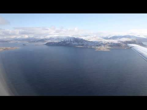 Landing at Alesund Airport - KLM first flight