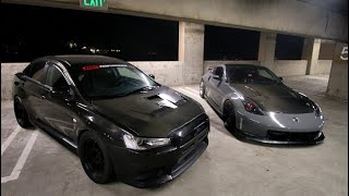 800HP EVO X Vs. 800HP 350Z NISMO!